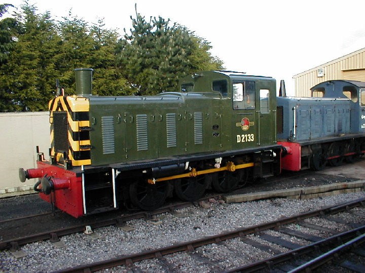 Class 03 diesel shunter at Williton in 2001
