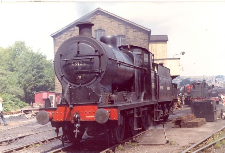 43924 at Haworth Shed