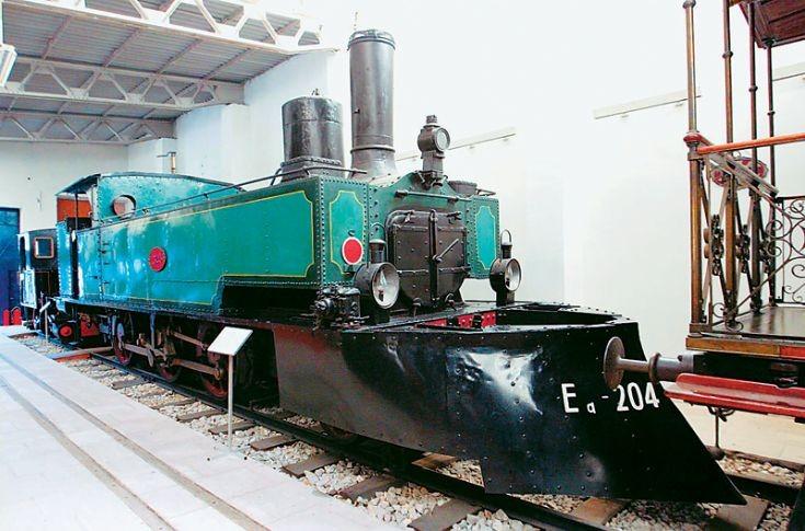 Greek old steam lomomotive.