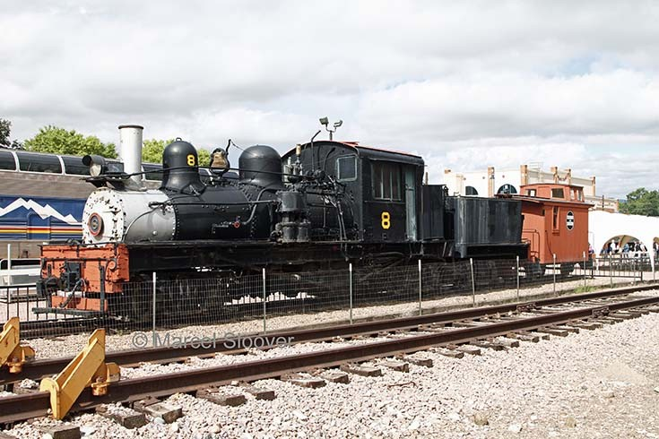 Steam loco 8 is on display in Canon City