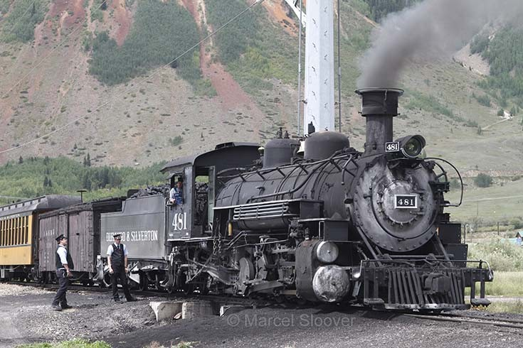 481 seen here in Silverton Colorado