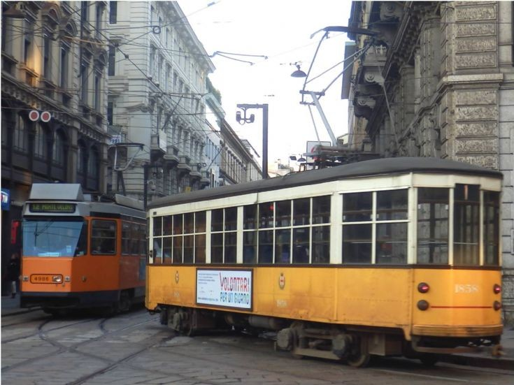 4986 and 1858 Tramway - Milan - Italy
