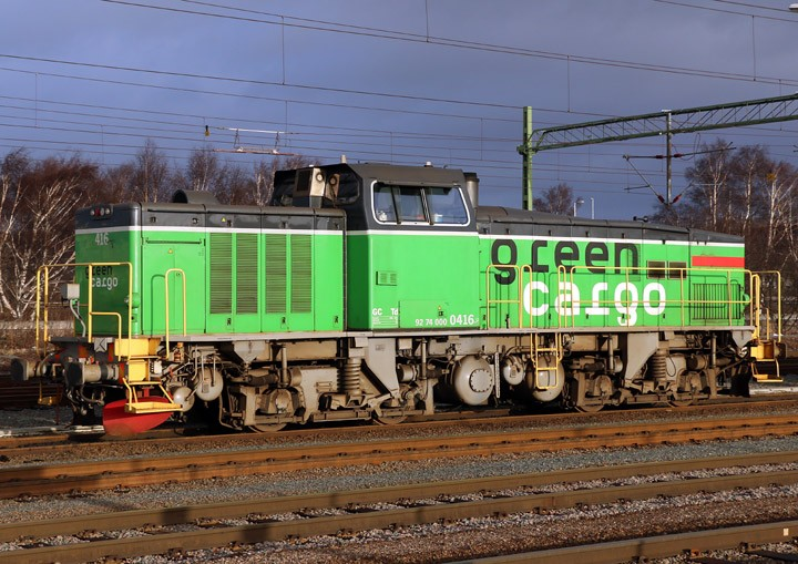 Green Cargo Td diesel shunter 416