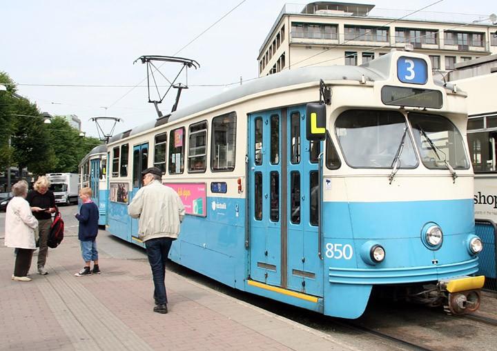 Gothenburg type M29 tram no. 850