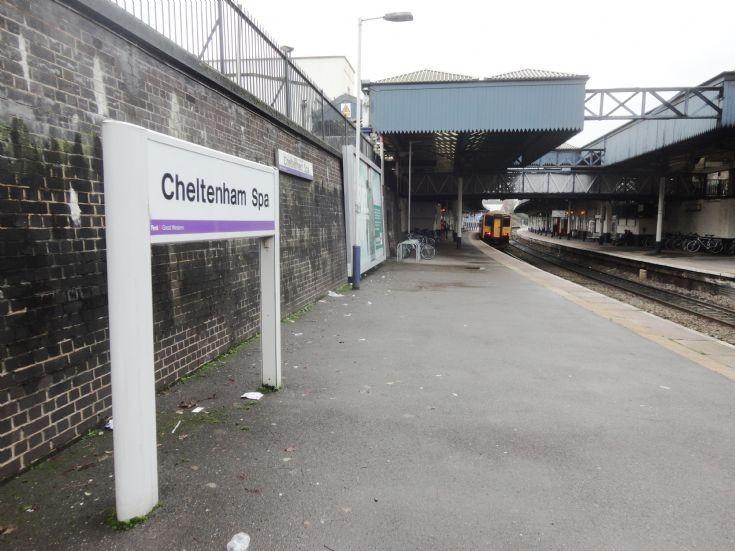 Cheltenham Spa station sign