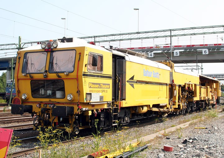 Plasser & Theurer track maintenance machine