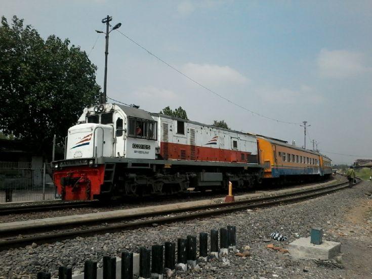 GE U18C hauling Kamandaka Train