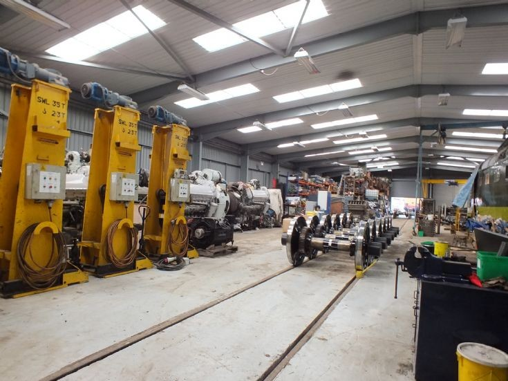 Inside the Deltic shed