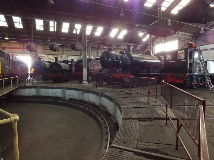 The view inside the roundhouse