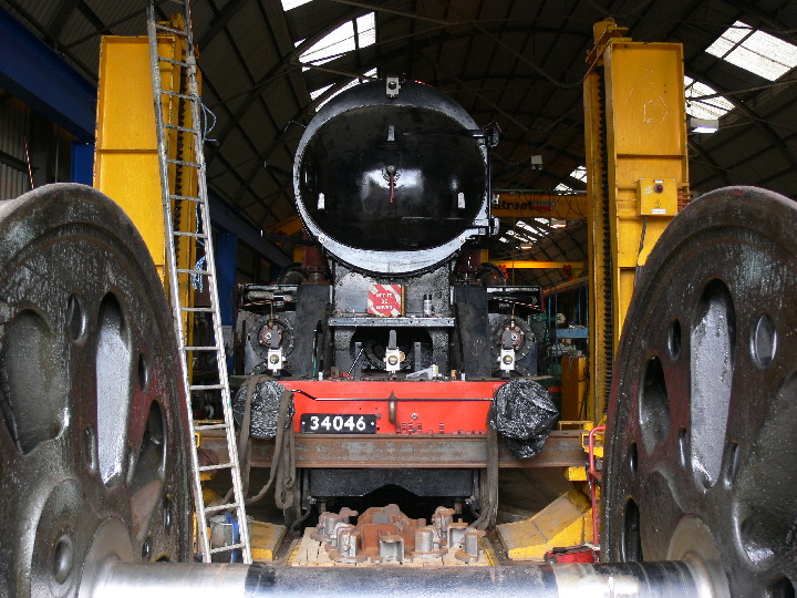 34046 Braunton in Williton workshops, sadly.