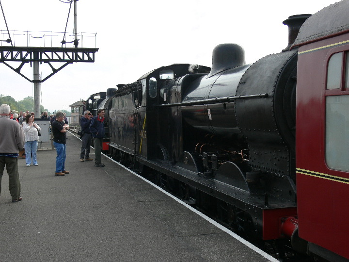 No 88 and 44422 waiting depart Minehead