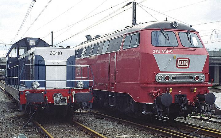 SNCF BB 66410 + DB 218 419-0