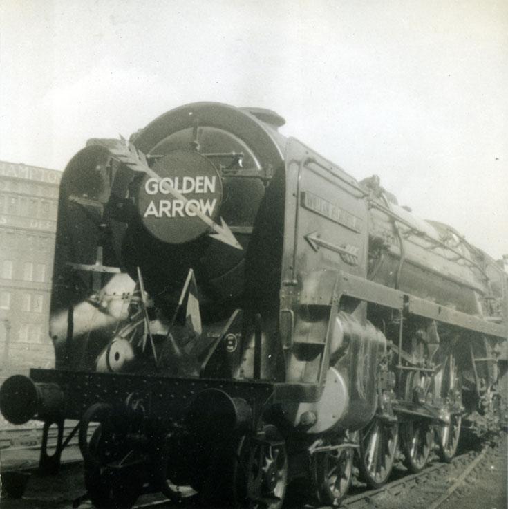 Golden Arrow Steam Train in 1950s