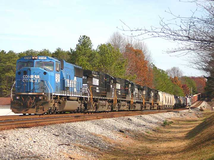 NS 6745 Freight train Breman Georgia USA