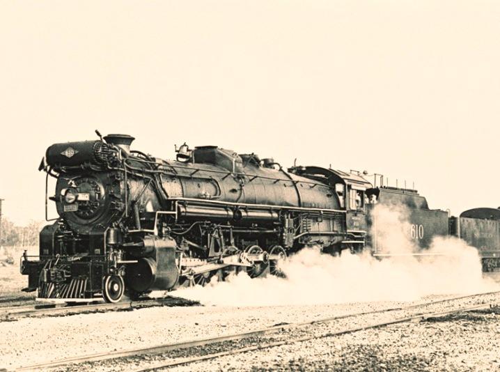 Steam locomotive Texas & Pacific 610