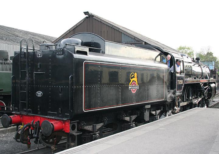BR Standard Class 5 4-6-0 73050 at Wansford