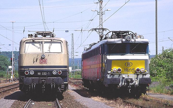 DBAG 181 222-1 + SNCB/NMBS 1805