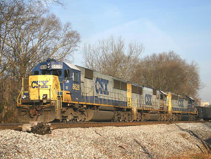 CSX 8628 diesel locomotive Georgia