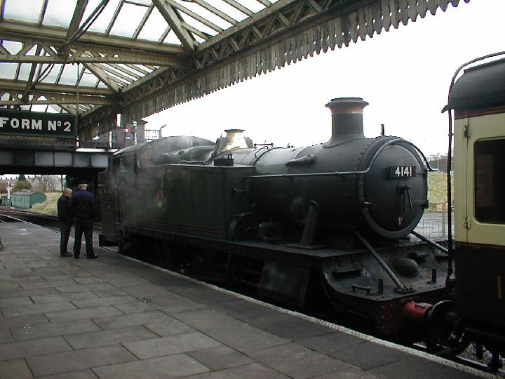 GWR 2-6-2T 4141 at Loughborough