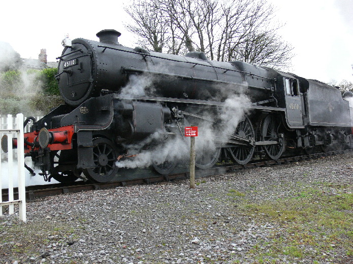 Black 5 45110 at Watchet  on the West Somerset