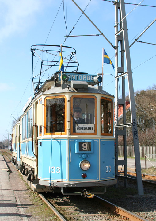 Gothenburg Tram No. 133 from the 1920s