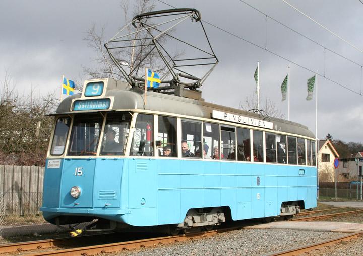 Gothenburg Tram No. 15 - a type M23 Mustang