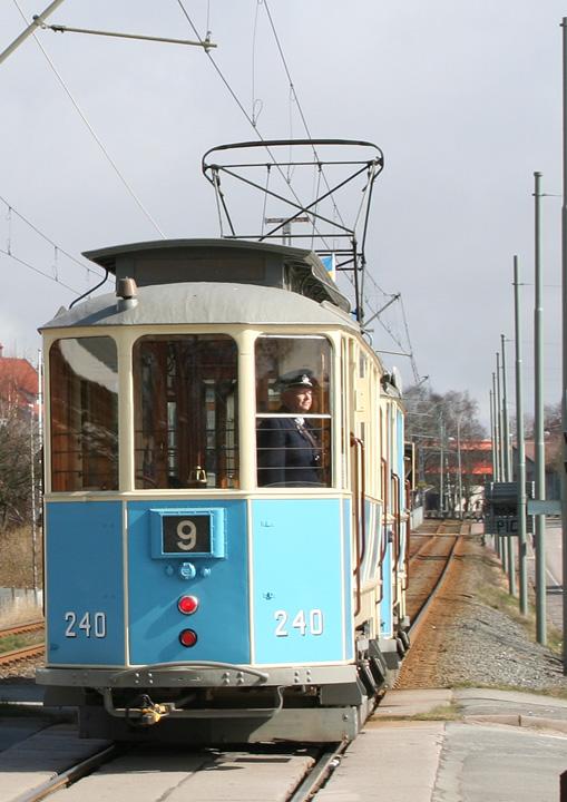 Gothenburg Tram Trailer No. 240 rear end
