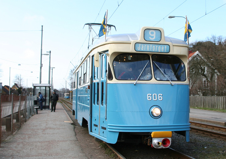 Gothenburg Tram MB06/M25 No. 606