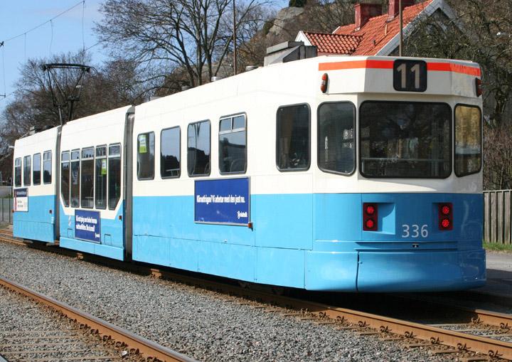 Gothenburg Tram Type M31 No. 336 rear end