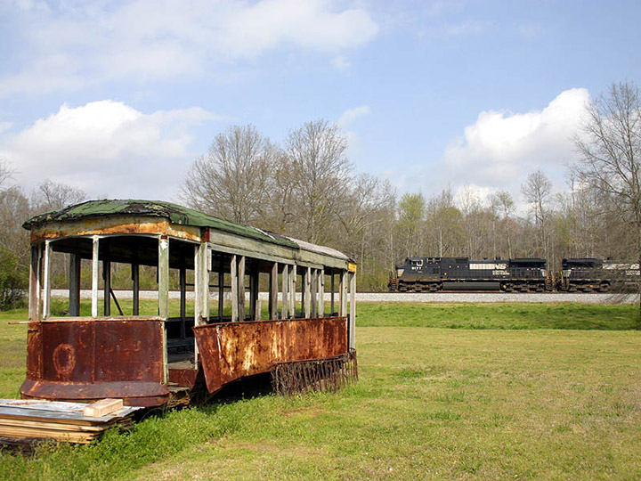 Watching and rusting in DeArmanville, Alabama.