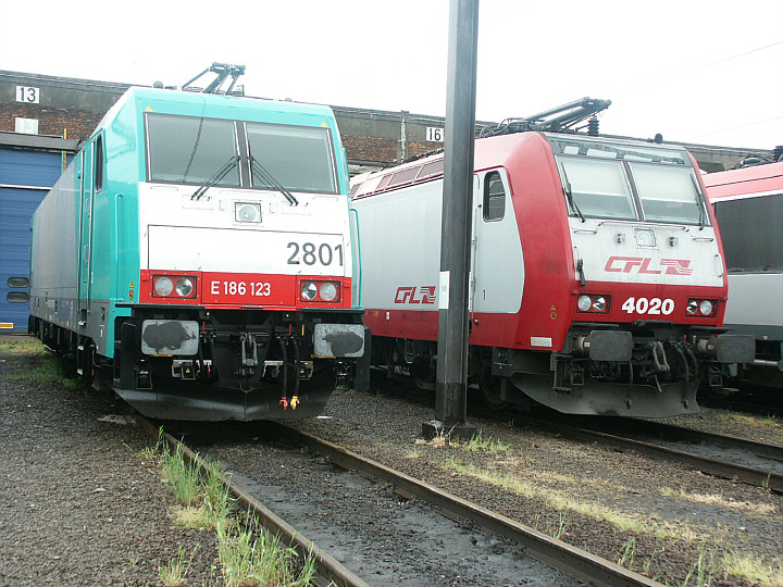 SNCB/NMBS 2801 (E 186 123) + CFL 4020