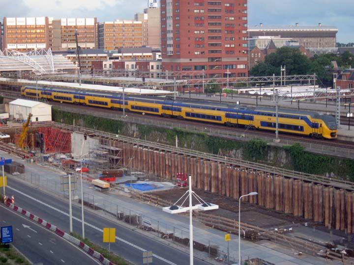 Double Decks train Leiden Central Station NL
