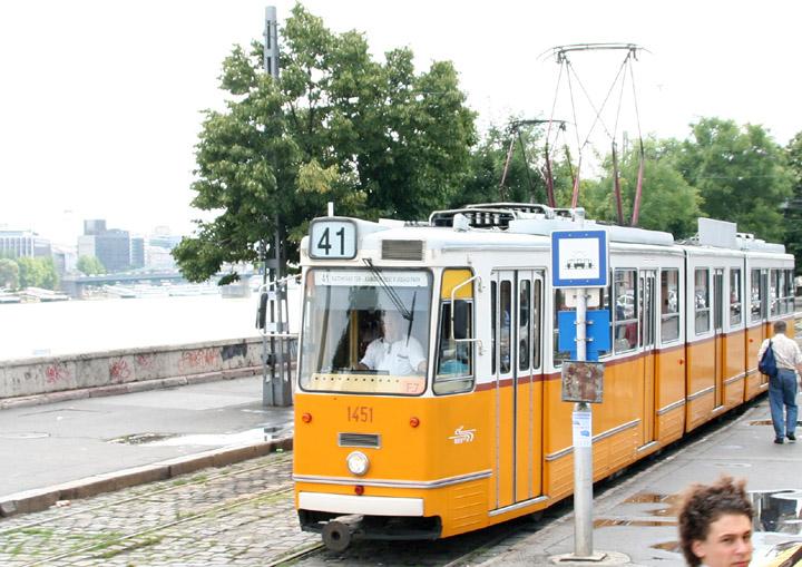 Ganz CSMG2 articulated tram 1451 in Budapest