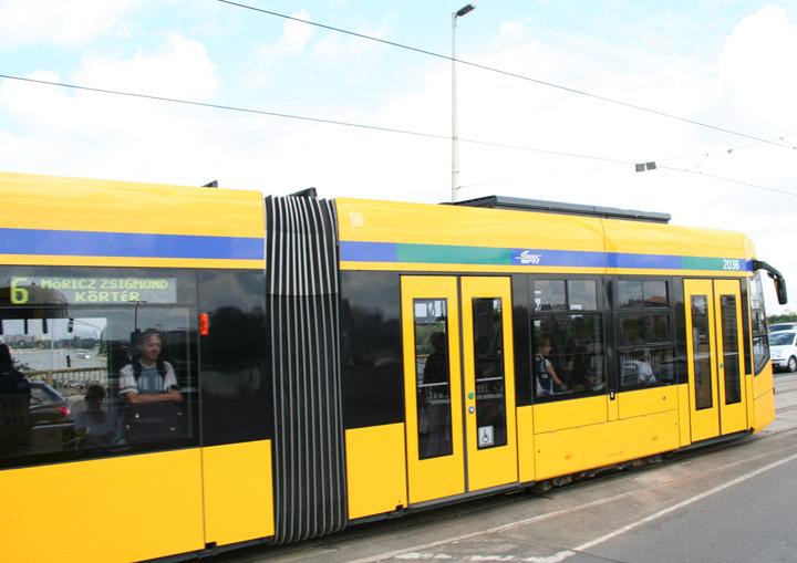 Siemens Combino Plus tram 2036 in Budapest