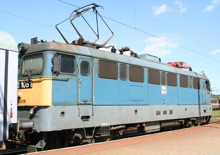 MAV V43 electric locomotive 1051 in Hungary