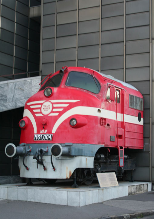 MÁV class M61 EMD-Nohab M61.004 nose