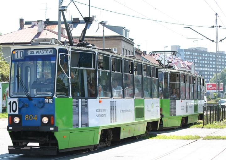 Konstal Chorzów 4-axle tram no. 804 in Krakow
