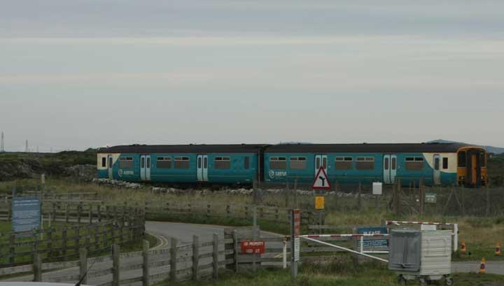 Arriva train passing RAF VAlley
