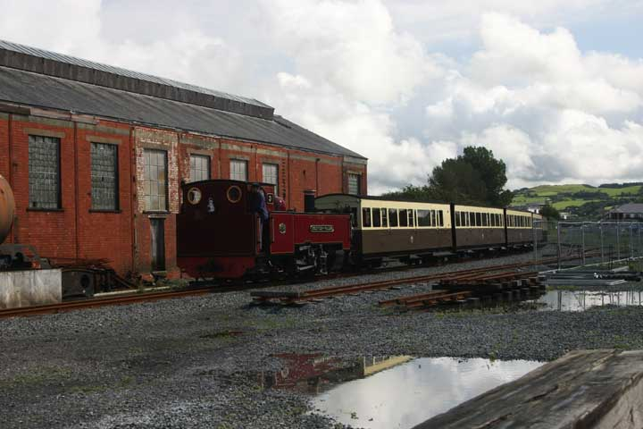 Narrow Gauge steam train Aberystwyth station