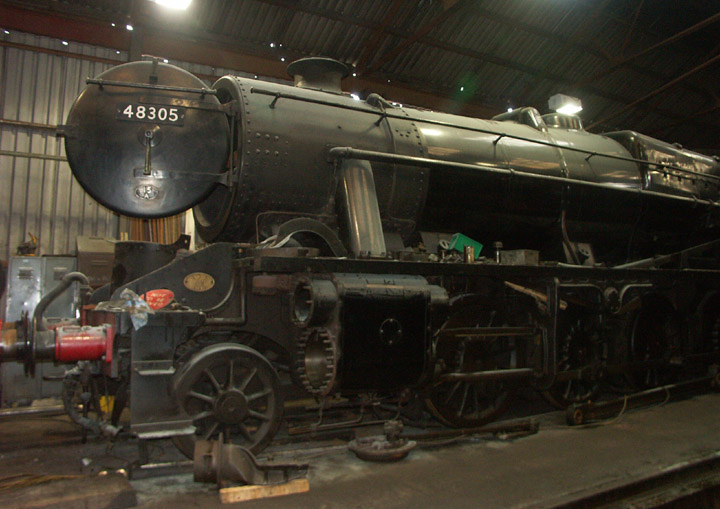 48305 Class 8F in maintenance at Loughborough