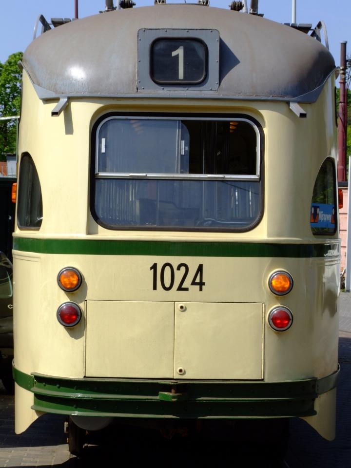 Former HTM Tram 1024 backside