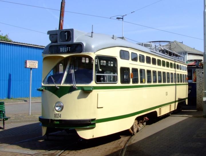 Former HTM Tram 1024 at Amsterdam