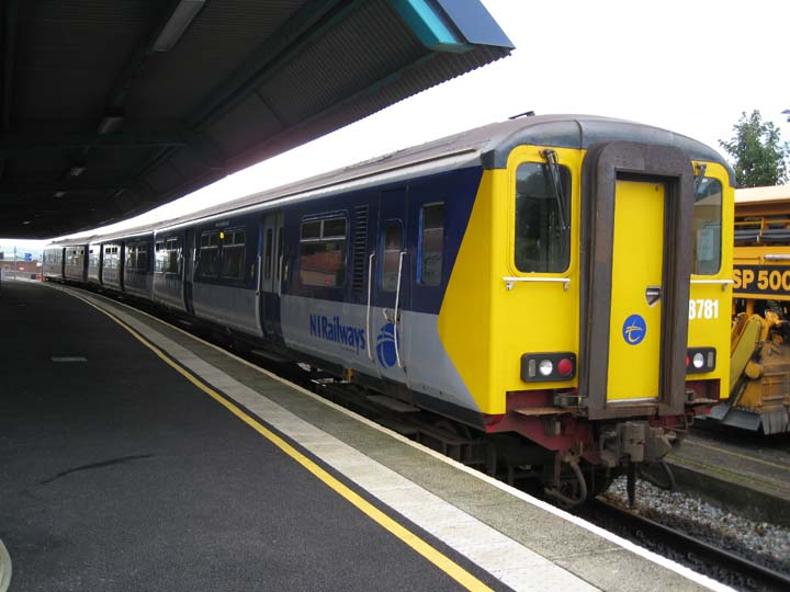 NI Railways Class 450 at Larne harbour station