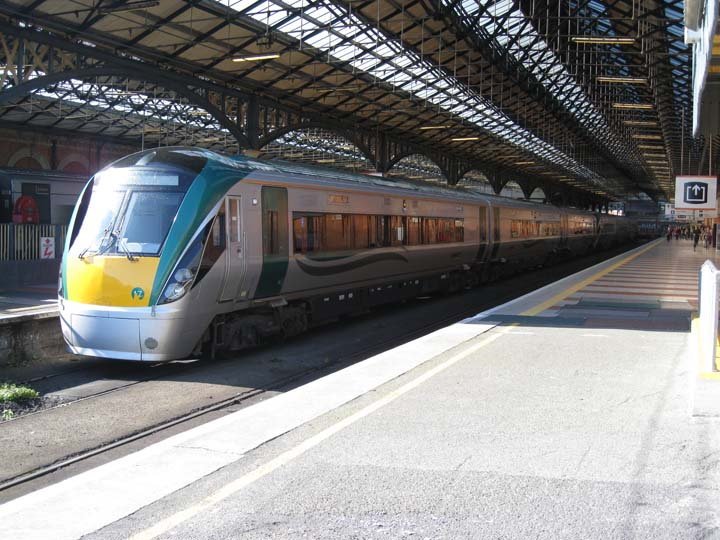 Irish railways Class 22000 train Connolly station