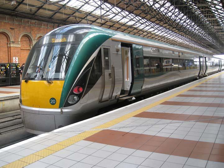 Irish railways Class 22000 at Connolly station