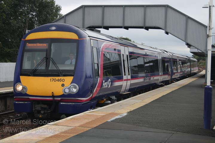 First Scotrail class 170 at Dalmeny train station.