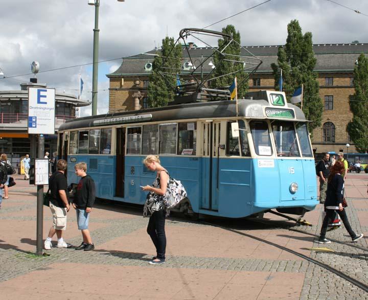 Tram 15 in Gothenburg.