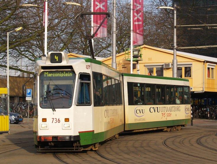 RET tram 736 type ZGT-6 Düwag
