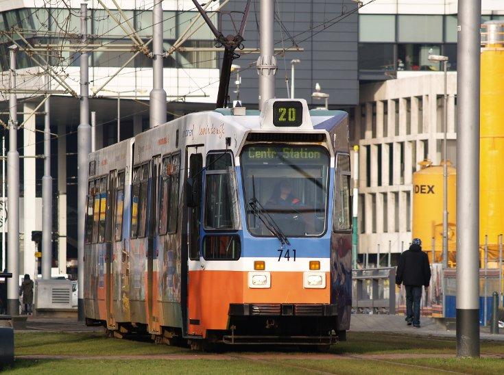Düwag ZGT-6 Tram in Rotterdam