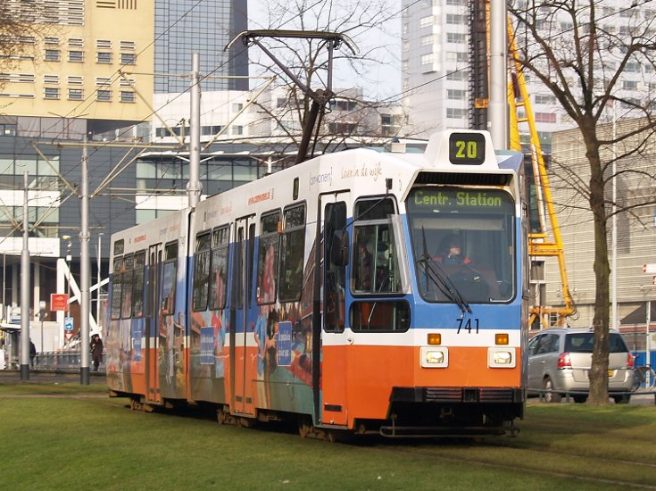 Tram 20 Centraal Station Rotterdam